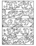 Back to School READ Bookmarks to Color I