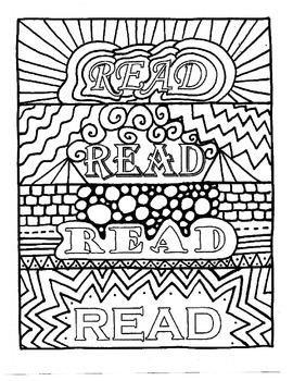 READ Bookmarks to Color III