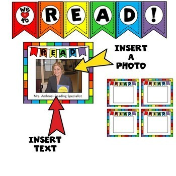 READ!  Bulletin Board to Promote Reading! EDITABLE TEMPLATES! Set 2