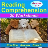 Reading Comprehension Passages and Questions | 20 Worksheets (Gr. 3-7)