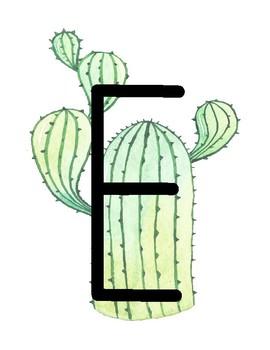 READ Cactus Sign