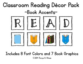 READ Classroom Decor with Book Accent Pics