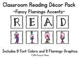 READ Classroom Decor with Fancy Flamingo Accent Pics