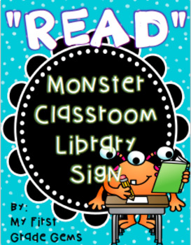 READ Classroom Sign