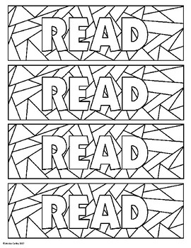 READ Coloring Bookmark