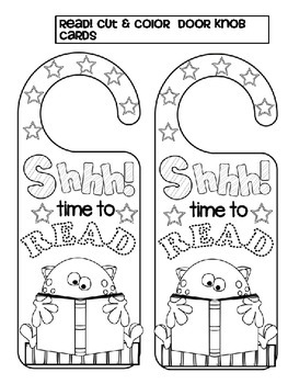 READ! Cut & color  DOOR KNOB CARDS