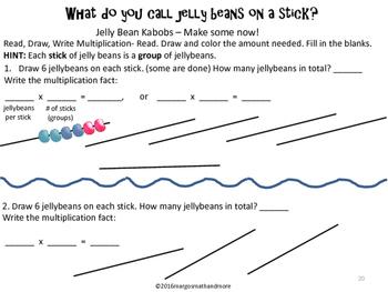 READ DRAW WRITE Jelly Bean Shish-Ka-Bob Multiplication