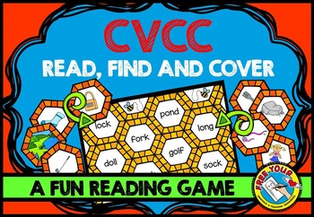 WORD WORK ACTIVITIES: READING CVCC WORDS CENTER: PHONICS GAMES: READING CENTERS