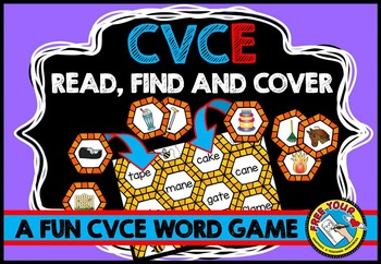 LONG VOWELS CENTER: CVCe WORDS ACTIVITY: PHONICS READING CENTERS: MAGIC E GAME