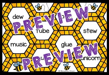 LONG VOWELS ACTIVITIES: BEE THEME LONG VOWELS GAME: LONG VOWELS READING CENTERS