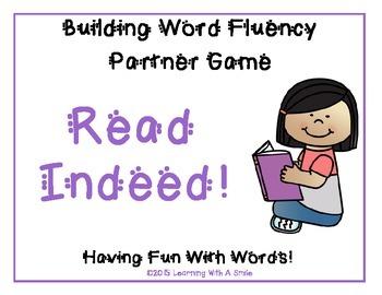 READ INDEED!  Word Fluency Practice ~ Partner Game