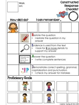 R.E.A.D. Interactive Checklist for Constructed Response Writing