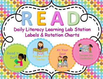 READ - Literacy Centers Rotation Charts