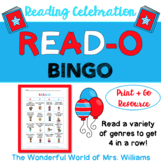 READ-O or Reading Bingo - Perfect for Dr. Seuss Birthday & Read Across America!