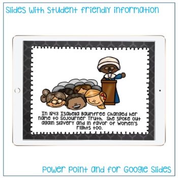 READ RESEARCH AND WRITE ABOUT SOJOURNER TRUTH BLACK HISTORY MONTH