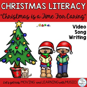 """Christmas Read and Sing Literacy Activities: """"Christmas Ca"""