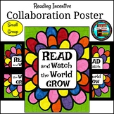 READ Small Group Collaboration Poster Great for Library Month or Anytime