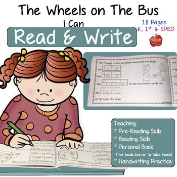 READ & WRITE Book Box Readers: The Wheels On The Bus ~ Editable