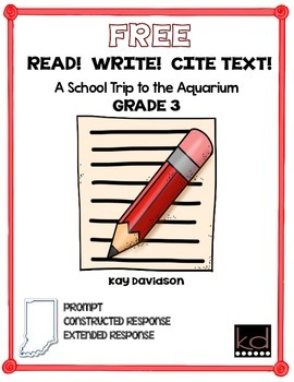 FREE READ!  WRITE!  CITE TEXT!  A School Trip  GR 3