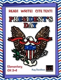 PRESIDENTS DAY  Read!  Write!  Cite Text! by Kay Davidson