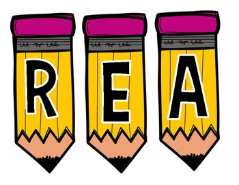READ & WRITE Pencil Banners