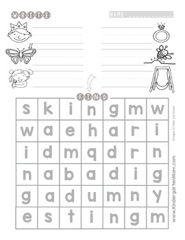 READ: Word Family Worksheets-Write and Find