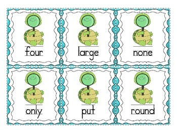READ and CHART High Frequency Words - 1st Grade Reading Wonders Unit 5
