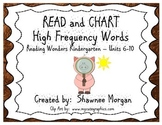 READ and CHART High Frequency Words - Reading Wonders Kindergarten Unit 6-10