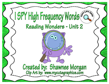 READ and GRAPH High Frequency Words - 1st Grade Reading Wonders Unit 2