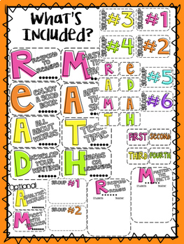 READ and MATH Centers Display - Full Set