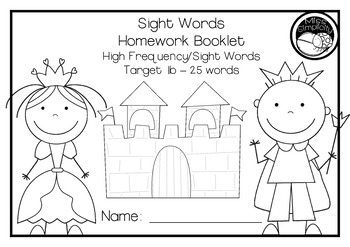 READ and WRITE fry's sight words HOMEWORK BOOKLET foundation font 1st 300 words