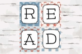 READ sign, Nautical Theme READ decor, Reading Nook, Reading Corner