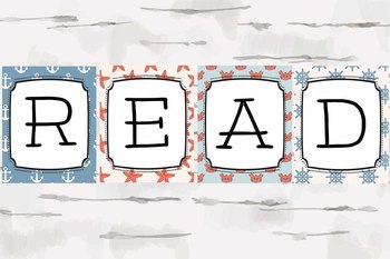 READ sign, Nautical Theme READ decor, Reading Nook, Reading Corner