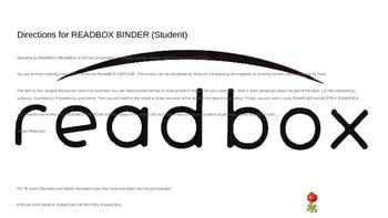 READBOX Book Critique Form