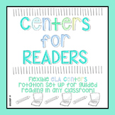 READER! ELA Centers Editable Rotation Board!