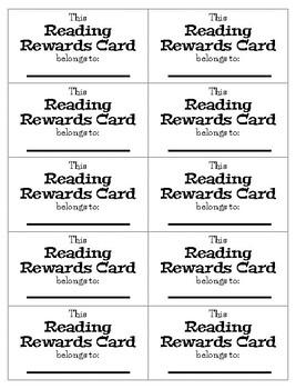 READER REWARD Cards