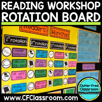 READER WORKSHOP ROTATION BOARD (classroom management/organization tool)