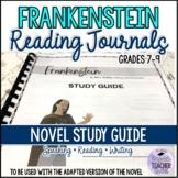 Frankenstein Novel Study Guide with A/K Penguin Active Rea