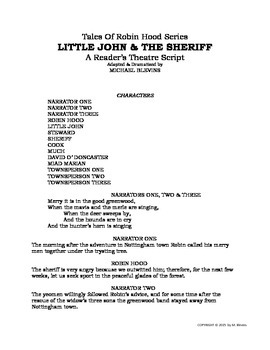 "READERS THEATER SCRIPT: Tales of Robin Hood Series, ""Little John & The Sheriff"""