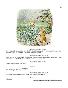 "READERS THEATER SCRIPT: The Beatrix Potter Series, ""The Tale of Peter Rabbit"""
