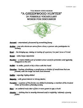 "READERS THEATER SCRIPT: Tales of Robin Hood Series, ""A Greenwood Hunter"""