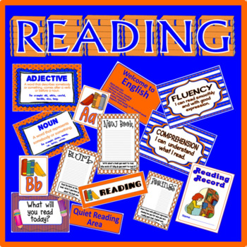 READING - ACTIVITIES CHARACTERS AUTHOR READING COMPREHENSION DISPLAY BOOK CORNER