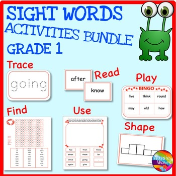 SIGHT WORDS BUNDLE Grade 1 Printable Activities for Centers and Word Work