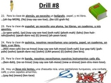 READING AND PRONUNCIATION DRILL-SPANISH 1