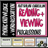 READING AND VIEWING LITERACY PROGRESSIONS - PHONIC KNOWLEDGE & WORD RECOGNITION