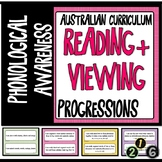 READING AND VIEWING LITERACY PROGRESSIONS - PHONOLOGICAL AWARENESS Aust. Curric.