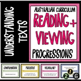 READING AND VIEWING LITERACY PROGRESSIONS - UNDERSTANDING TEXTS Aust. Currici