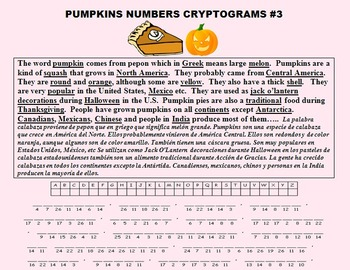 READING AND WRITING ABOUT PUMPKINS! (CCSS, FUN, ESL, SPANISH)