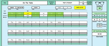 READING ASSESSMENT AND MONITORING - DIGITAL RUNNING RECORD