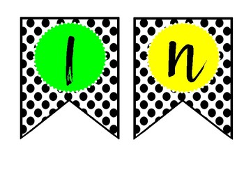 READING BANNER--POLKADOTS AND BRIGHT COLOR
